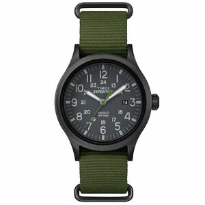 "Timex TW4B04700, Men's ""Expedition"" Green Nylon Watch, Scout, Indiglo, Date"