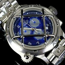 Invicta Russian Diver Nautilus Caged Swiss MVT Steel Blue 52mm Chrono Watch