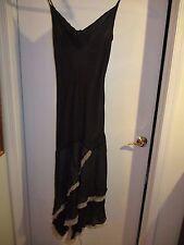 Ballroom Dancing Dress 1 / 2 Black Tango Salsa layered Express