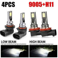 Combo LED Mini 9005 + H11 Headlight Kit Bulb High Low Beam 240W 60000LM 6000K JO