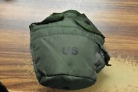 US ARMY OLIVE GREEN CANTEEN COVER POUCH 1 QT LC-2 TA-50 ALICE CLIPS