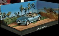 JAMES BOND COLLECTION  -  BMW Z3 CAR  - GOLDENEYE   - DIARAMA DISPLAY - 1:43