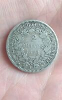France - 2 francs  Cérès argent 1873 A