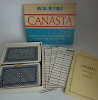 Vintage Waddingtons Canasta Card Game Set
