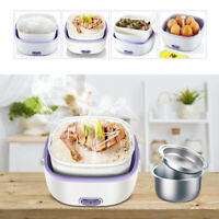 Multifunctional Electric Lunch Box Mini Rice Cooker Portable Food Steamer New