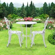 iKayaa 3PCS Patio Bistro Set Balcon Table et Chaises Set Meubles de jardin N9W1