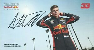Max Verstappen Signed 2019 Red Bull Racing Card