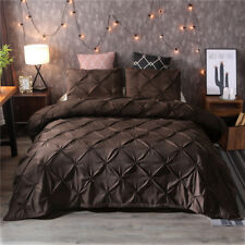 Luxury Style Pinch Pleat Duvet Cover Set Hypoallergenic Super Soft Bedding Sets
