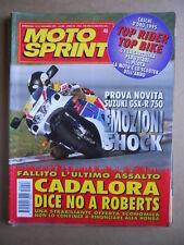 MOTOSPRINT n°46  1995 [Q78]  Test SUZUKI GSX-R 750