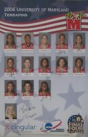 2006 Maryland Women's Basketball NCAA Champs Team signed poster Brenda Frese +11