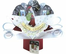 Father Christmas Pop-Up Greeting Card Second Nature 3D Pop Up Cards