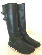 Lacoste Similee SRW Womens Size 7M Black Leather Boot Low Wedge Heel Round Toe