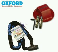 ATOM FLOOR ANCHOR & OXFORD GP CHAIN LOCK MOTORCYCLE 1.5M CYCLING SECURITY PACK