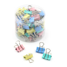 60Pcs 15Mm Colorful Metal Binder Clips File Paper Clip Holder Office Supply _Wk