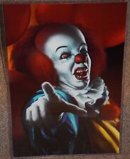 IT Pennywise Glossy Art Horror Print 11 x 17 In Hard Plastic Sleeve