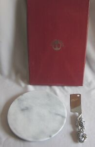 Cheese Set w/ Knife & Marble Cutting Board Arthur Court Grape Original Box