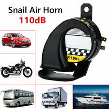 Universal Waterproof Car Motorcycle Snail Air Horn 130dB 12V E-Bike Loud Usa