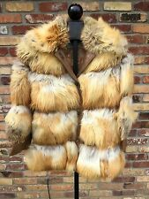 Vintage RED FOX Womens FUR Coat with Leather Accent  Kilpatricks Omaha