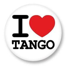 Magnet Aimant Frigo Ø38mm ♥ I Love You j'aime Danse Dance Musique Music Tango