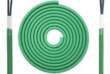 Textilkabel flach 2x0,75mm² grün RAL6024 Synthetik Textilleitung Leuchte D0503