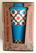 BAMBOO, Eco-friendly, Reusable, Flowery, 400 ML, Coffee, Travel Mug, New