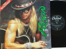 """Poison - Every Rose Has It's Thorn 12"""" Single 1988 1st UK Press G/Fold EX"""
