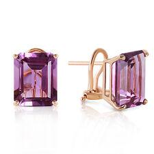 13 Carat 14K Solid Gold Distinction Amethyst Earrings