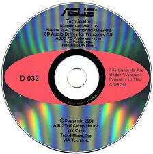 ASUS GENUINE VINTAGE ORIGINAL DISK FOR Terminator series Motherboard Disk MD032