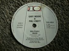 More details for gary moore and phil lynott. military man. paper record label.