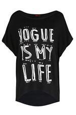 T-shirt, maglie e camicie da donna neri viscosi taglia M