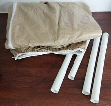 Adco Protective Covers 6-Ft to 8-Ft Small Umbrella Cover with Sewn-In Wand,tan