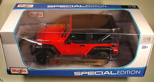 Maisto 1/18 2014 Jeep Wrangler Willys red new in box