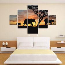 3PCS Modern Elephant Animals Prints Canvas Art Painting Home Wall Decor