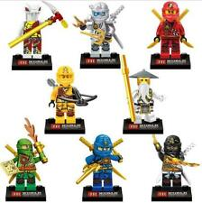 8 PCS Ninjago Building Blocks Ninja Mini Figure Toy Construction Set lego's Fit