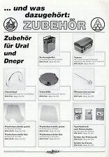 Prospekt Zubehör Ural Dnjepr Motorräder 2005 Motorrad Russland brochure parts