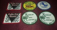 New lot of 6 vintage camping campground patches VA NC MD