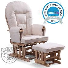Crème supremo bambino infirmiers planeur rocking chaise inclinable maternité avec tabouret