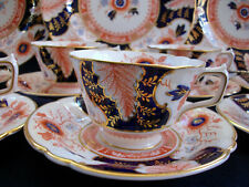 ROYAL CROWN DERBY  BATTERSEA IMARI  (c.1937) CUP & SAUCER- SCALLOPED!! MINT!!