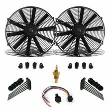 "Super Cool Pack w/ 2 10"" Fans Fixed Temp Switch Harness & Brackets & Additive"