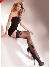 Ladies/Womens Lace top hold up with pattern Gabriella Lima Stocking