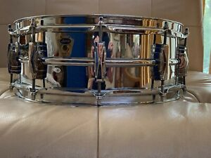 Magnificent Chrome over Brass Transition Badge Super Ludwig Snare Drum--NR