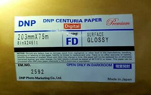 Konica Minolta QA PAPER digital Typ FD  203mm x75 m Fotopapier f. MINILAB - NEU