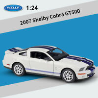WELLY 1:24 Scale 2007 Shelby Cobra GT500 Diecast Car Model Toy Gifts New in Box