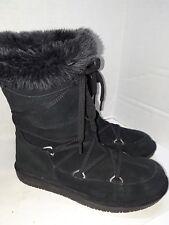 Skechers Black Suede 48008 Winter Boots Womens Size 7