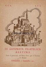 AREZZO: 3a Giornata Filatelica Aretina- C.F.A. e E.P.T.  1952