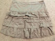 OLD NAVY Khaki Tiered Above Knee Length Cotton Casual Skirt womens 8
