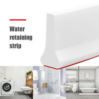 Collapsible Shower Threshold Water Dam Shower Barrier and Retention System