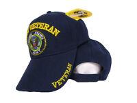 U.S. US Army Veteran Shadow Embroidered Navy Blue Ball Baseball Cap Hat (RUF)