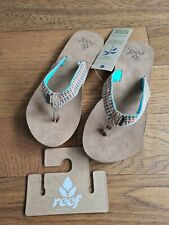 Reef Gypsylove Womens Flip Flops Sandals - Teal - Uk Size 8 - New With Tags!!
