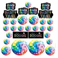 Mega Value Pack of 30 Let's Boogie 1970's Disco Themed Cut-Outs Decorations New